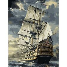 Acrylic Paint by Number 40*50cm Kit Painting On Canvas DIY Sailboat Sea Ship