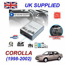 COROLLA 1998-02 MP3 SD USB CD AUX Input Audio Adapter Digital CD Changer Module