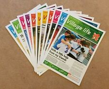 LONDON 2012 - 11 ISSUES GENUINE VILLAGE LIFE NEWSPAPERS PARALYMPIC GAMES *RARE