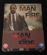 MAN ON FIRE Blu-Ray SteelBook Play.com Exclusive Denzel Washington New OOP Rare