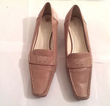 Betty Barclay Nude Womens Leather Initialed Stitch Shoes EUR Sz 38 UK Sz 5 VGC