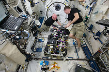 8x12 Photo of Astronauts Scott Kelly and Terry Virts work on CDRA aboard the ISS