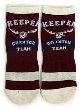 LADIES HARRY POTTER QUIDDITCH TEAM KEEPER WORK OUT SHOE LINERS SOCKS ONE SIZE