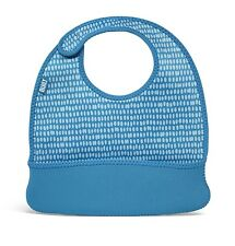 Built NY Mess Mate Set Of 2 Toddler Neoprene Bibs Dribble Blue Dot & Caterpillar