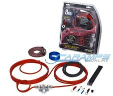 STINGER SK4681 8 GAUGE 4000 SERIES COMPLETE CAR STEREO AMP INSTALL WIRING KIT