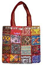INDIAN VINTAGE BOHO BANJARA PATCHWORK BAG HANDMADE ANTIQUE COIN SHOULDER BAG