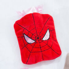 Portable Spider Man Cover Warm Hot Water Bag Bottle Fluffy Plush Home Xmas Gifts
