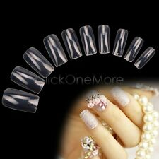 MON - 500 Pcs Transparent French False Acrylic Nail Art Full Tips UV Gel US