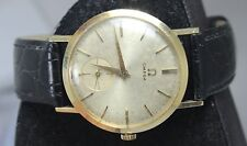 VINTAGE OMEGA 14KT SOLID GOLD MENS WATCH CIRCA 1940S WORKS