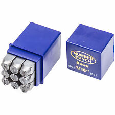 Schlagzahlen Set 8 mm Schlagziffern Nummern Metall einschlagen Ein-Schlagstempel