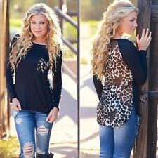 New Women's Ladies Fashion Long Sleeve Casual Loose Blouse Shirt Tops,M