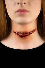 Walking Dead Zombie Cut Throat Laceration Prosthetic Cosplay Halloween