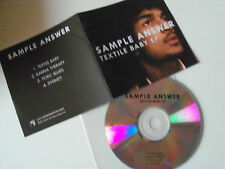 SAMPLE ANSWER - Textile Baby EP - 4 Track UK CD Promo 2015