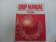 1978 Honda ED1000 Portable Generator Shop Manual MISSING BACK COVER STAINED OEM