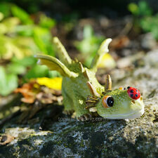 Miniature Dollhouse Fairy Garden Dragon Playing with Ladybug TO 4414 Figurine