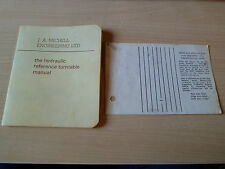 Michell Hydraulic Reference Turntable Manual + Transcriptor Arm Protractor