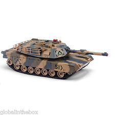 HUANQI 549-02 RC Battle Tank Toy 2.4G Remote Control 1:24 Scale M1A2 Simulation