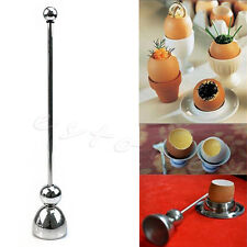 Egg Topper Shell Cutter Opener Stainless Steel Boiled Raw Open Kitchen Tool New