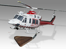 Bell 412EP Air Ambulance Victoria HEMS 3 Mahogany Wood Desktop Helicopter Model