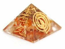 REIKI ENERGY CHARGED CARNELIAN CRYSTAL ENGRAVED ORGONE PYRAMID POWERFUL STONE