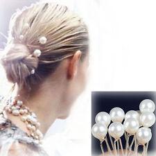 20PCS  Prom Bridal Hairpins White Pearl Barrette Hair Clip