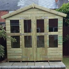 8 x 6 19mm Tanalised & Pressure Treated T&G Apex Reverse Summerhouse Shed