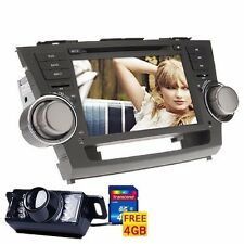 "Camera+8"" Car Stereo Player GPS Navigation Radio For Toyota Highlander 2008-2012"