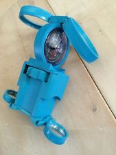 Vintage Blue Compass Magnifier Mirror Tool! Made In Italy ! Must See!