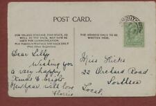 Lilly Hicks, Orchard Road, Southsea 1904 - Flossie  postcard db8