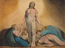 BLAKE BRITISH CHRIST DISCIPLES RESURRECTION OLD ART PAINTING POSTER BB5015A