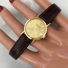 Rolex 18K Solid Gold Watch w/ Champagne Diamond Dial Watch