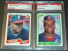 (2) 1990 FRANK THOMAS ROOKIES FLEER UPDATE & SCORE  PSA MINT 9 SHARP