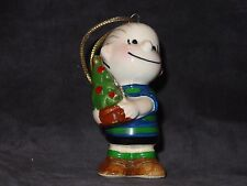 Peanuts Gang Japan 1952 Linus *Holding Christams Tree* Ceramic Ornament
