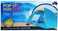 GENUINE AUS QLTY-Instant Pop Up Beach/Pool Sun Shelter/Shade/Tent UV UPF 50+