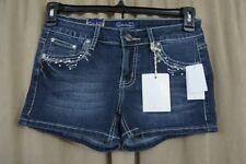 Project Indigo Junior Shorts Sz 5 Blue Washed Embellished Casual High Rise Short