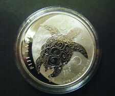 2011 $2 1oz New Zealand Fiji Taku Silver Bullion coin Hawksbill turtles .999