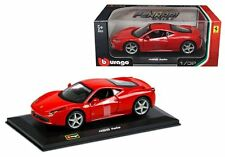 BBURAGO 1:32 W/B FERRARI 458 ITALIA RACE & PLAY Diecast Car Model 18-44016