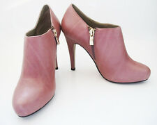"Noe High Heel Women Leather Ankle Boots Shoes Platforms 4"" Heel Multi Colours"