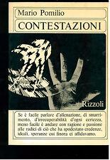 POMILIO MARIO CONTESTAZIONI RIZZOLI 1967 I° EDIZ. LETTERATURA FILOSOFIA