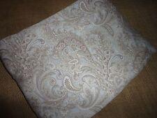 RAYMOND WAITES BLUISH GRAY WHITE PAISLEY FULL FLAT SHEET 72 X 90 300TC