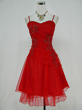 Cherlone Plus Size Red Prom Ball Bridesmaid Evening Wedding Formal Dress 20-22