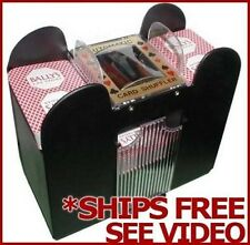 6 Deck Automatic Card Shuffler for Poker Copag All Standard Playing Cards