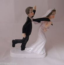 Wedding Reception Party Bride Groom Funny Humorous Cake Topper 50% Off