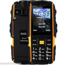 NO.1 A9 Quad Band Unlocked Phone Dual SIM IP67 Waterproof Dustproof Shockproof