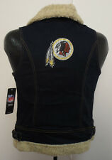WASHINGTON REDSKINS WOMENS SMALL VEST JACKET LADIES NFL SHERPA NEW FOOTBALL CUTE