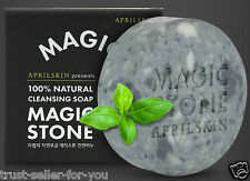 April Skin Magic Stone Face Whitening 100% Natural Cleansing Soap 100g