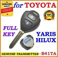 Toyota Remote Key Hilux Yaris Two Buttons Complete Key 2004 - 2009 - Genuine FOB