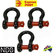 3x Bow Shackles 4.75T 4x4 4WD Recovery Rigging Tow D-Ring EXPRESS & WARRANTY