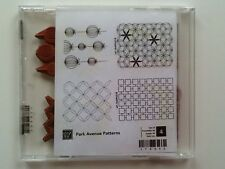 Stampin' Up! Retired ** Park Avenue Patterns ** Clear Mount Stamp Set