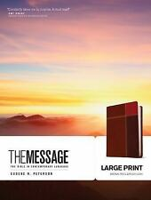 The Message Large Print Brown Trio Leather-Look (2013, Imitation Leather,...